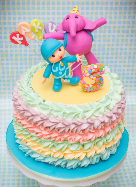 Pocoyo-beautifull-Birthday-cream-Cake-www.cakebama.com
