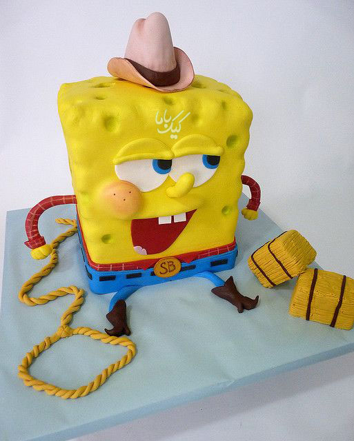 Spongebob-cake-fondant-for-sons-birthday-www.cakebama.com
