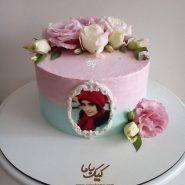 Birthday-cream-tasviri- cake- with- natural- flowers-www.cakebama.com